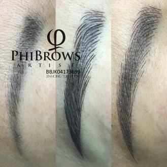 Phibrows Microblading for old PMU coverup